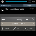 Screenshot options updates by Samsung to the Galaxy Note II